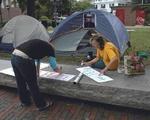 camp alex anti-iraqi war demonstration