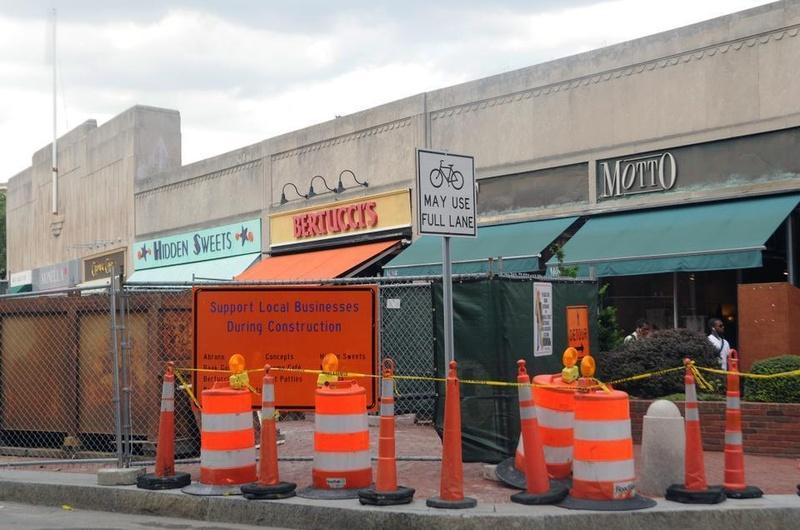Construction, MBTA, Harvard Square