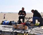 Relaxing on Venice Boardwalk