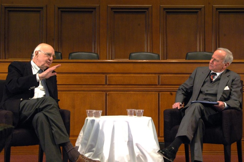 Paul Volcker at Harvard Law School