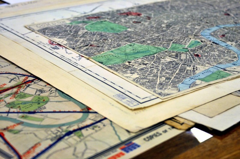 Maps of Pusey Library
