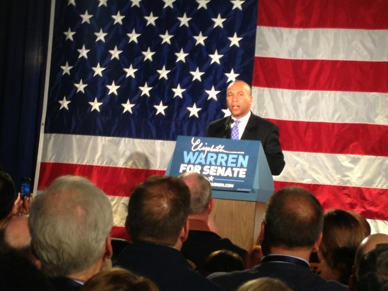 Deval Patrick at Warren Election Party