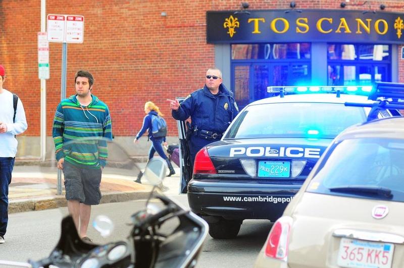 After Boston Marathon Explosions, the Scene in Harvard Square