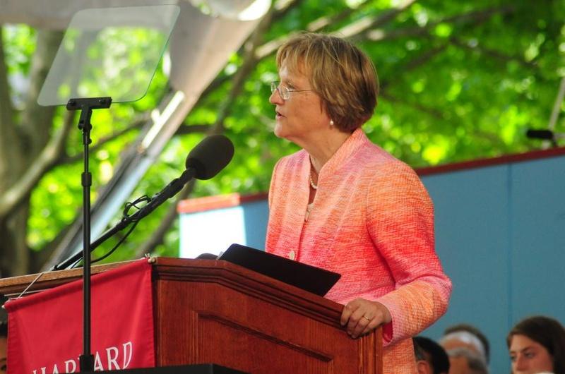 Faust Speaks to Graduates