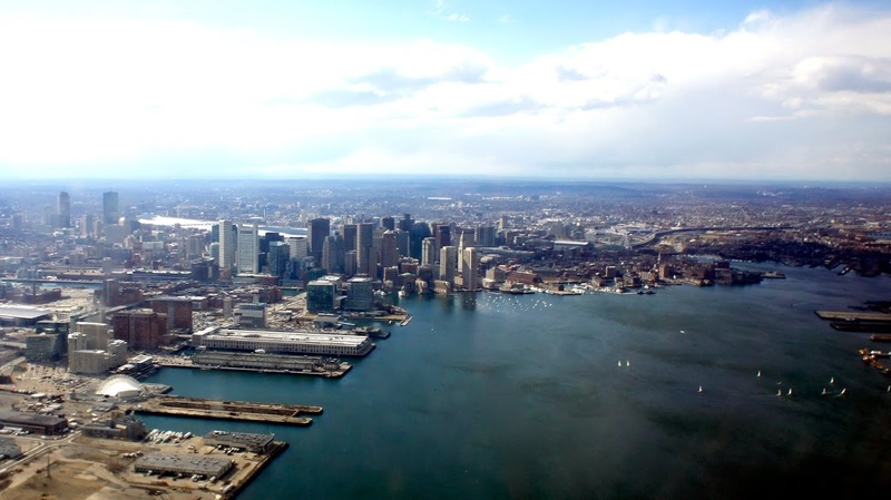 Boston from plane