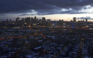 A view of Boston from the Bunker Hill Monument