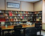 Student studies in spacious Yenching Reading Room