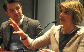 Martha Coakley and Hugo Van Vuuren