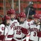 February 3, 2015 - Harvard 9, Boston University 2: The Crimson offense exploded with five goals in the second period.