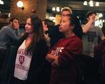 Fans Watch Harvard vs. UNC Game