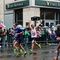 Runners Celebrate Near End of Marathon