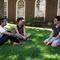 Talking Tea in Lowell Courtyard