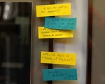Supportive Sticky Notes After Law School Vandalism