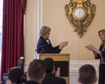 University President Drew G. Faust and Air Force Secretary Deborah Lee James