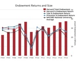 endowment returns and sizes